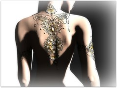 Sing Gold (Abi Latzo) Tags: whitewidow white~widow ink tattoo avatar secondlife sl shopping