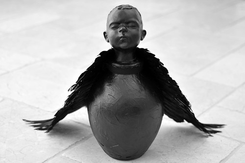Wendy Mayer 'Little Bird', 2016 Ceramic, papier mâché, wax, feathers 68x45x31cm