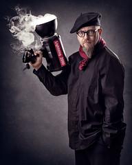 Lightning 2000 (Tortured Mind) Tags: humour nikkor d800 dslr photographer flash homestudio red bearded suomi nikon studio 70200mmf28 54 fi artist zoom selfportrait strobe glasses round kuopio