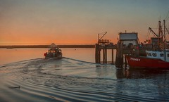 Good Morning, Provincetown (SLEEC Photos/Suzanne) Tags: harbor dock boat sunrise ocean provincetown macmillanwharf seascape marine nautical