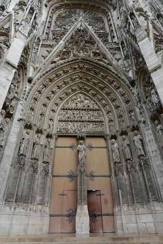 Archivolts and tympanum - Cathédrale Notre-Dame de Rouen