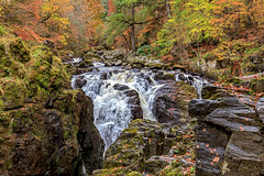Falls of Braan (MilesGrayPhotography (AnimalsBeforeHumans)) Tags: autumn britain canon 6d canon6d 1635 canonef1635mmf4lisusm craigvineanforest dunkeld eos ef europe f4l forest fall waterfall iconic landscape lens outdoors photography perthshire rocks river riverbraan scotland scenic trees uk unitedkingdom wide