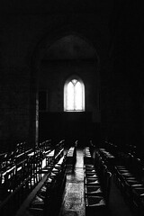 B&W, peaceful atmosphere amongst chairs against light flooding into Eglise Saint Melaine, Rennes, Brittany, France (grumpybaldprof) Tags: tamron 16300 16300mm tamron16300mmf3563diiivcpzdb016 rennes capitalofbrittany brittany bretagne france eglisesaintmelaine stmelainechurch monochrome blackandwhite blackwhite bw sun chairs church window negativespace peaceful light dark contrast interior inside highlights atmosphere contemplation medidation