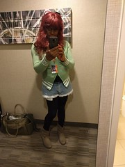 Casual Kyoko Sakura Selfie (blueZhift) Tags: youmacon 2016 cosplay costume anime manga comics fantasy scifi detroit michigan cartoons kyokosakura crossplay