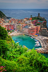 Looking down (BlindThirdEye) Tags: paradise vernazza italy cinqueterre laspezia cityscape landscape architecture village sea boat tower flickrtravelaward