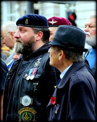 Biker veterans (* RICHARD M (Over 5.5 million views)) Tags: candid street portraits portraiture candidportraits candidportraiture streetportraits streetportraiture bikers motorcyclists hellsangels remembrancesunday remembrance respect berets redberet para medals bemedaled beards bearded whiskers bewhiskered pride proud groups comrades lestweforget wewillrememberthem poppies badges leather southport sefton merseyside capbadges bulldogbreed england britain greatbritain gb unitedkingdom uk patriots patriotic patriotism exservicemen widowssons widowssonsmasonicbikersassociation wsmba freemasons widowssonsmbaofgreatbritain widowssonsmbanorthwestchapter brotherhood sombre freemasonry parachuteregiment expara