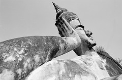 Laos : Spirit City #12 (foto_morgana) Tags: analogphotography analogefotografie asia buddhapark buddhastatue buddhism hinduism indochina laos lightroom nikoncoolscan outdoor photographieanalogue religion sculptures statues travelexperience vuescan xiengkhuan