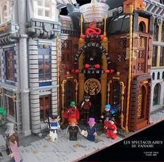 Paris 1889 Steampunk [WIP8] - Les spectaculaires de Paname (CASTOR-TROY) Tags: lego paris 1889 modular spectaculaires paname