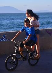 We Adapt! (Ctuna8162) Tags: chile antofagasta beach saturday bicycle couple malecon riding
