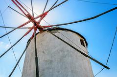 Windmill (Kevin R Thornton) Tags: d90 nikon travel abstract architecture greece mykonos mediterranean windmill mikonos egeo gr