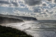 Praia Grande.- Sintra (Pat Celta) Tags: nikon d7000 paisajes nubes mar olas landscape