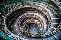 Spiral Staircase, Vatican Museum (StevenH.) Tags: staircase stairway vatican rome sony a99 stairs spiral architecture museum downstairs