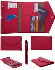 Travelambo Rfid Blocking Passport Holder Wallet & Travel Wallet Envelope (red) (wupplestravel) Tags: blocking envelope holder passport rfid travel travelambo wallet