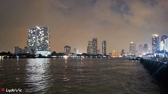 Bangkok from Asiatique Riverfront (Ld\/) Tags: bangkok asiatique thailande thailand chaophraya river night city skyline lights building