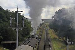 smoking _MG_0254 (M0JRA) Tags: grosmont steam trains lines smoke graves grave yard people head stones