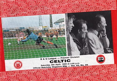 Hamilton Academical vs Celtic - 1989 - Cover Page (The Sky Strikers) Tags: park old town hamilton celtic douglas firm newly academical accies relegated
