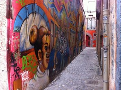 Clermont-Ferrand - Trsors du centre ancien (2), mai 2014 (G916) Tags: couleurs tag style peinture mur fresque artiste clermontferrand artistique impasse
