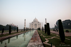 Taj Morning 7832 (Ursula in Aus - Away Travelling) Tags: india architecture taj tajmahal unesco uttarpradesh earthasia