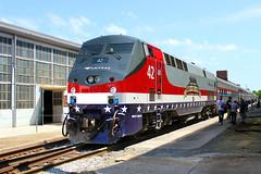 Amtrak Exhibit Train (Reginald T. McDowell Sr.) Tags: electric train nc general north exhibit amtrak carolina spencer genesis ge veterans p42dc