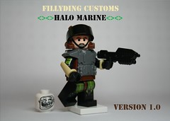 Lego halo marine v1 (Keaton FillyDing) Tags: brick face soldier gun lego space alien halo elite figure troll reach custom grunt brute minifigure brickarms brickforge clonetrooperx39 fillyding