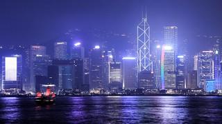 Aqua Luna and the Hong Kong skyline