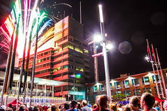 Canada Day Downtown Kitchener - Fireworks (Matt M S) Tags: street old city urban ontario canada man festival project hall concert downtown king day metro fireworks kitchener canadian event waterloo area sloan roller region 1000 core wayfarer kw 2014 mattsmith markley kitchenerwaterloo downtownkitchener amberwood kitchenerontario waterlooregion kitchenerdowntown kitchener1000 kitchener1000project kwontario