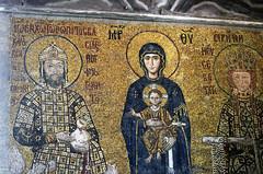 Mosaic Panel (Prairie_Wolf) Tags: turkey christ mosaic istanbul virginmary eurasia travelphotography empresseirene rachelmackayphotography empororjohnii