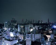Tokyo Skyline (Franco Rabazzo) Tags: city travel color 120 film japan night analog tokyo cityscape nightshot shibuya mf 6x7 tokio negscan plaubel iso160 kodakportra160 makina670 nikoncoolscan8000ed