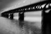 Corner (c e d e r) Tags: bridge bw yellow train copenhagen denmark sweden bro malmö icm oresund vitt svart öresund öresundsbron oeresund intentionalcameramovement l1014815
