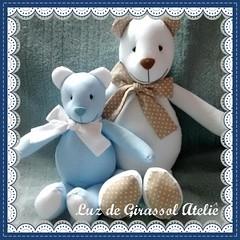 Ursos P e M (Luz de Girassol Ateli) Tags: ursos ursinhosdepano peluciadeursos decorativosdeursinhos