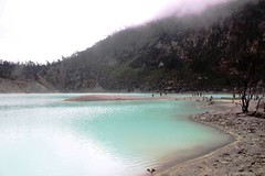Kawah Putih (theotrieste) Tags: water volcano cyan crater sulfur boil sunda jabar belerang patuha
