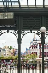 Walt Disney World Railroad - Main Street U.S.A. (maryabeaver) Tags: june florida disney disneyworld wdw waltdisneyworld magickingdom mainstreetusa cinderellacastle 2013 waltdisneyworldrailroad d5000 june2013