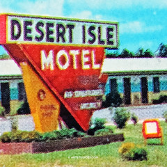 Desert_Isle_Motel (Dutch Design Photography) Tags: blue red vacation people sun holiday art pool digital swimming umbrella print hotel vakantie foto bright fine motel pop warhol plaatje tafereel