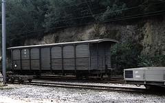 Appenzeller Bahn bogie van at Herisau (TrainsandTravel) Tags: schweiz switzerland suisse ab narrowgauge electrictrains appenzellerbahnen appenzellerbahn schmalspurbahn trainslectriques voieetroite elektrischezge