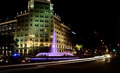 Barcelona night test 3 . 4127j (antarc foto) Tags: barcelona street city test fountain night de lights nikon via gran nikkor vr passeig grcia afs dx 18105 d7000