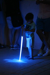 Young Jedi (Digital_Third_Eye) Tags: blue light wisconsin canon outdoors starwars kid madison lightsaber rthymbooms