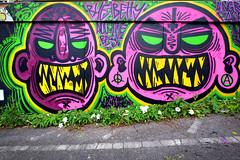 Bob Bert and Betty (weirdoldhattie) Tags: urban streetart art face bristol graffiti faces path angry cyclepath footpath easton angryface baptistmills