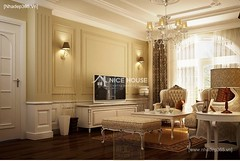 Thiết kế nội thất phòng khách tân cổ điển_009