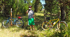 Waha Pugsley FatBike Ride w / Bryce (Doug Goodenough) Tags: summer mountains bike bicycle forest ride fat 14 spokes july bryce surly pedal waha 2014 puglsey fatbike drg53114 drg53114p drg53114pwapug2 drg531ppugsley