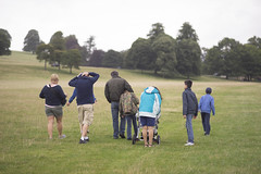 walking (Mr.KPG) Tags: park family friends party walking countryside sheep walk farm country group 100mm event together gathering land f2 om stroll zuiko reunited chatsworth f20