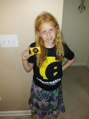 My daughter with her eclipsegrafx shirt (The Dark Design) Tags: loot eclipsegrafx eclipsebricks