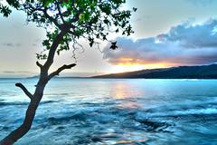 Secret Spot (DSully06) Tags: ocean sunset mountain mountains water island hawaii waves oahu smooth