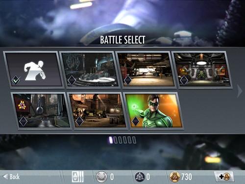 Injustice: Gods Among Us Level Selection: screenshots, UI