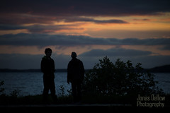 A View of Heaven (Jonas Dellow Photography) Tags: sunset lake silhouette lough melvin figures jonasdellowphotography