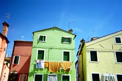 colors (jennajacobs) Tags: ocean venice houses homes sea italy film home colors 35mm island saturated colorful paint vibrant murano colos burano disposable