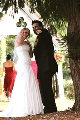 coolest bride and groom (lenny's i 2 eye) Tags: flowers wedding slr church canon eos groom bride cool day reception bridesmaid coolest bide 600d