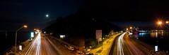 The river road (deVetal) Tags: road night river lights highway view kiev kyiv киев embankment ночь дорога огни пейзаж набережная река dnieper київ шоссе днепр набережна річка дніпро шосе вогні нічь