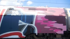 dell'arte della guerra (en-ri) Tags: train writing torino graffiti video blu arrow viola mrn arancione sdk 2014 wholecar bcause opak toptobottom