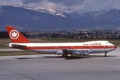 Air Canada Boeing 747-200; C-GAGC, March 1988 (Aero Icarus) Tags: slidescan plane avion aircraft flugzeug aircanada boeing747200 cgagc