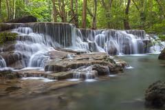 Huay Mae Kamin Waterfall in Kanchanaburi province, Thailand (anan796) Tags: park wood travel blue wild mountain plant tree green fall nature wet water beautiful beauty